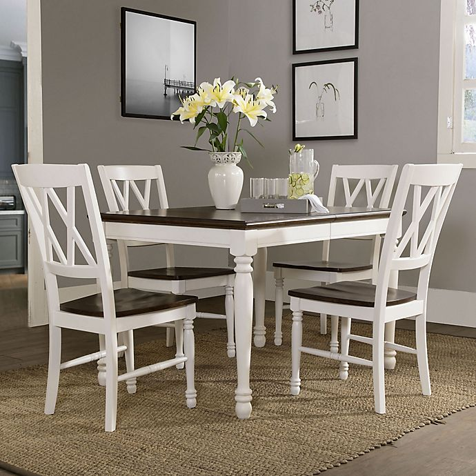 Crosley Furniture Shelby 5 Piece Dining Set In White Bed Bath Beyond