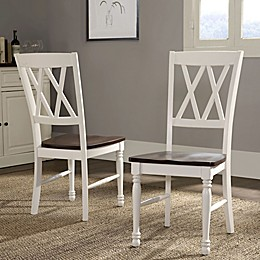 Crosley Furniture Shelby Dining Chairs in White (Set of 2)