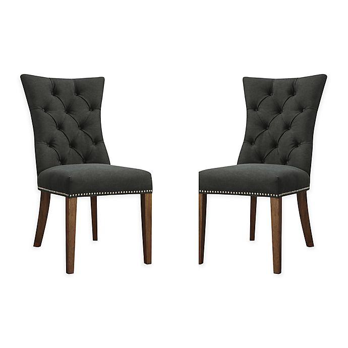 Alternate image 1 for Moe`s Home Collection Upholstered Dining Chairs in Black(Set of 2)