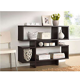Baxton Studio Cassidy 4-Level Bookcase in Dark Brown