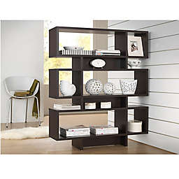 Baxton Studio Cassidy 6 Level Bookcase In Dark Brown