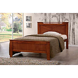 Baxton Studios Demitasse Bed in Brown