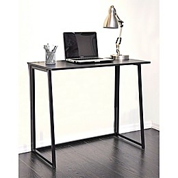 Wooden Folding Writing Desk in Black
