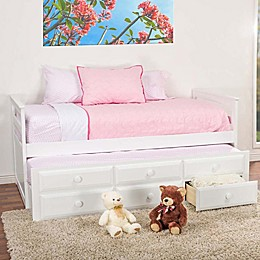 Baxton Studio Ballina Trundle Twin Bed in White
