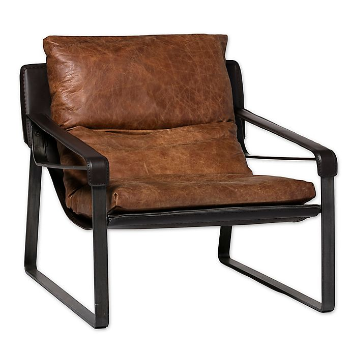 Alternate image 1 for Moe's Home Collection Leather Connor Chair in Brown
