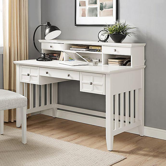 Alternate image 1 for Crosley Adler Desk With Hutch in White