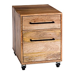 Moe's Home Collection Colvin Mobile Pedestal in Natural
