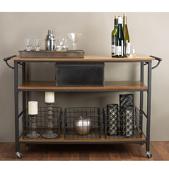Baxton Studio Lancashire Kitchen Cart Bed Bath Beyond