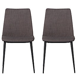 Moe`s Home Collection Upholstered Dining Chairs in Grey(Set of 2)