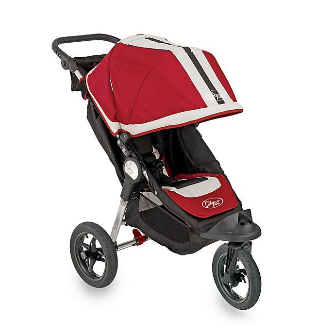 2009 Baby Jogger City Elite Single Stroller Red Bed