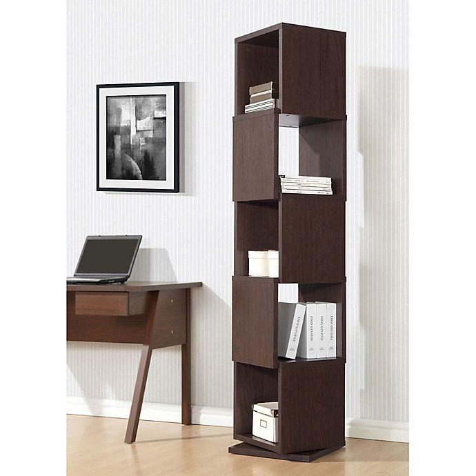 Alternate image 1 for Baxton Studio Ogden Bookcase in Dark Brown