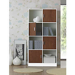 Baxton Studio Chateau Bookcase in White/Brown