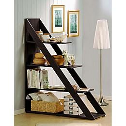 Baxton Studio Pstina Shelving Unit Bookcase in Dark Brown