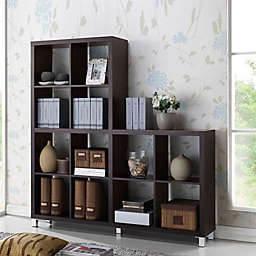 Sunna Shelving Unit Bookcase in Dark Brown