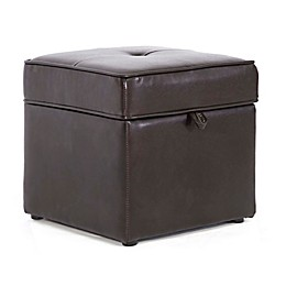 Baxton Studio Sydney Storage Ottoman in Brown