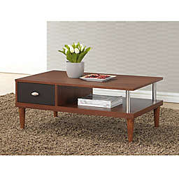 Baxton Studio Eastman TV Stand in Brown/Dark Brown
