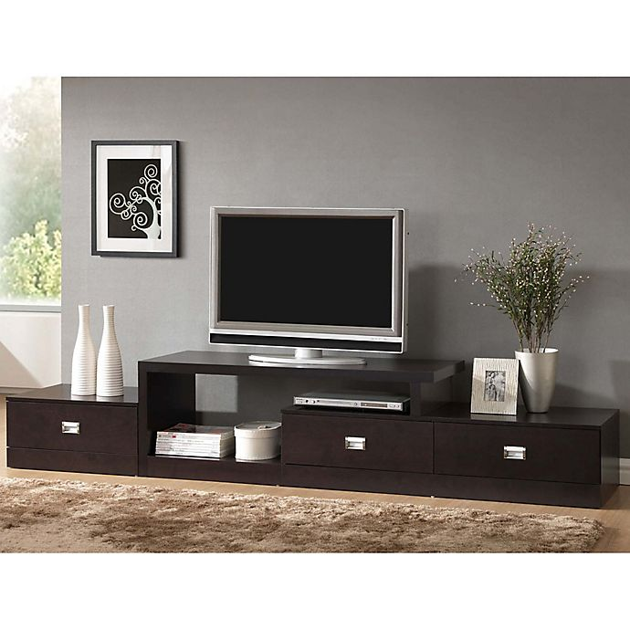 Alternate image 1 for Baxton Studio Marconi TV Media Stand in Light Brown