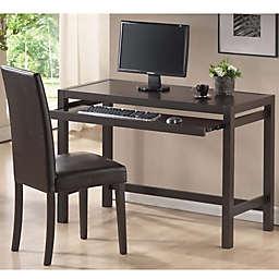 Baxton Studio Astoria 2-Piece Desk Set in Dark Brown