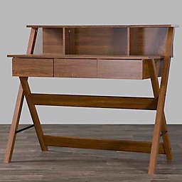 Baxton Studio Crossroads 2 Writing Desk in Brown