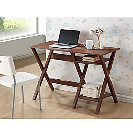 Baxton Studio Crossroads Writing Desk in Brown