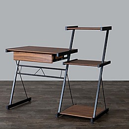 Baxton Studio New Semester Desk in Coffee/Black