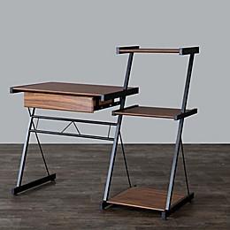 Baxton Studio New Semester Desk in Coffee/Black