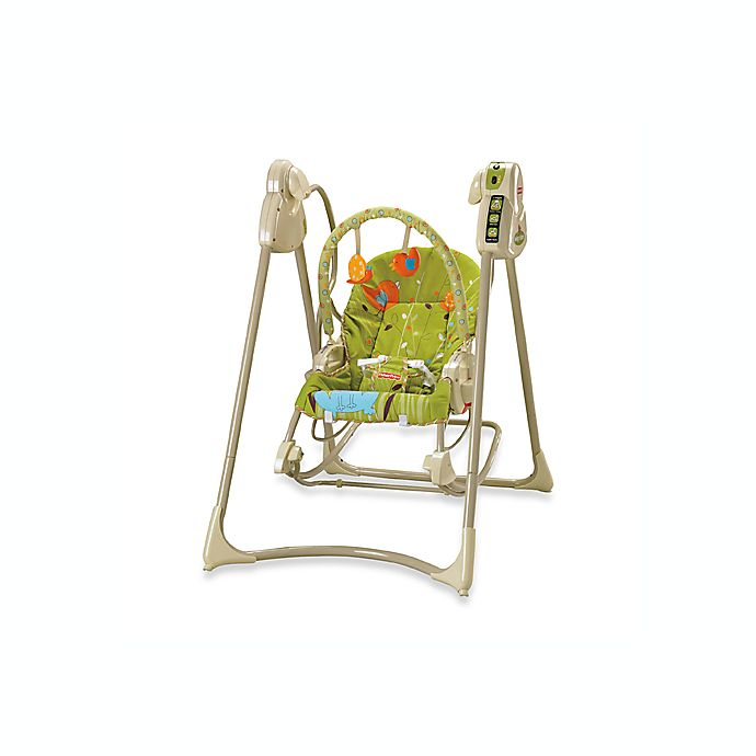 Fisher-Price® Green Meadow Baby Swing n\' Rocker™ | buybuy BABY
