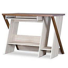 Baxton Studio Rhombus Desk in Natural/Brown