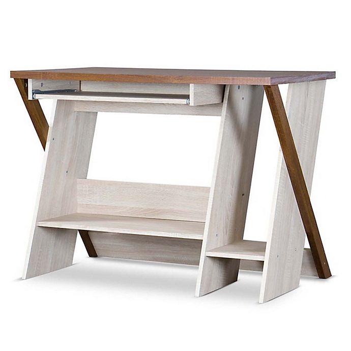 Alternate image 1 for Baxton Studio Rhombus Desk in Natural/Brown