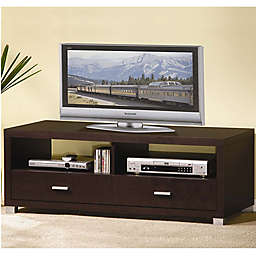 Baxton Studio Derwent TV Stand in Dark Brown