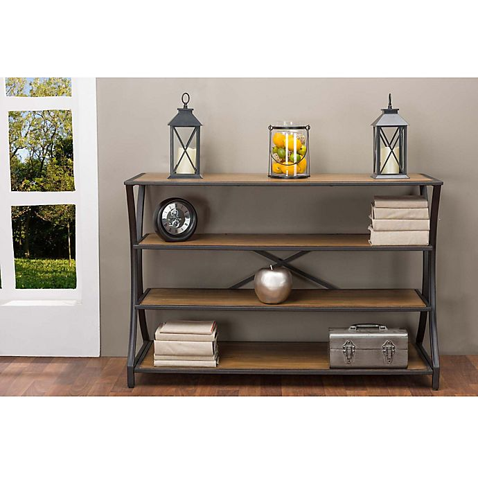 Baxton Studio Brown Industrial Kitchen Cart At Lowes Com: Baxton Studio Lancashire Console Table In Brown