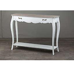 Baxton Studio Bourbonnais Console Table in White