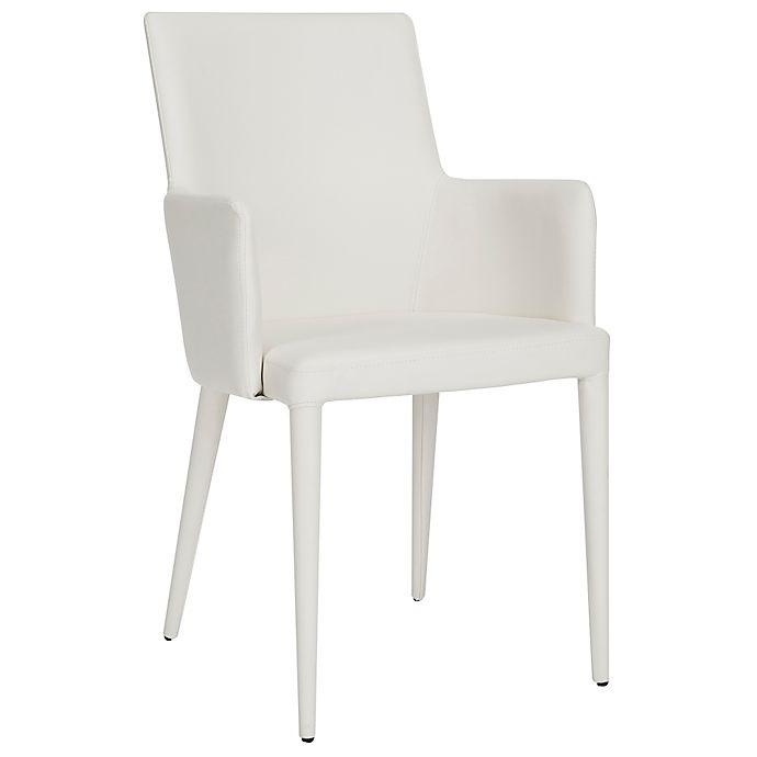 Strange Safavieh Summerset Polyurethane Arm Chair In White Bed Bralicious Painted Fabric Chair Ideas Braliciousco