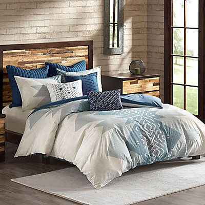 INK+IVY Nova 3-Piece Comforter Set in Blue
