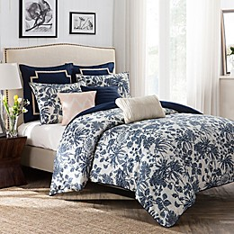 Palmetta Duvet Cover Set in Navy