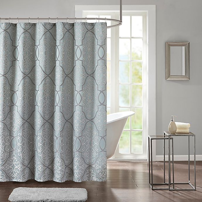 Madison Park Lavine 72 Inch Shower Curtain In Blue