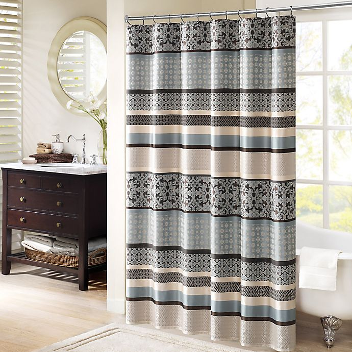 Alternate image 1 for Madison Park Princeton 72-Inch Shower Curtain in Blue