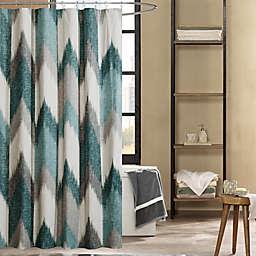 INK+IVY Alpine 72-Inch Shower Curtain in Aqua