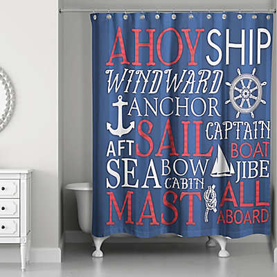Red White And Blue Shower Curtain Bed Bath Beyond