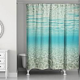 Designs Direct Under the Ocean 71-Inch x 74-Inch Shower Curtain