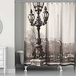 Designs Direct Afternoon in Paris Shower Curtain in Black/Beige