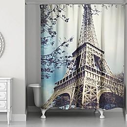 Designs Direct Hazy Eiffel Tower Shower Curtain
