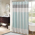 Madison Park Amherst 72-Inch Shower Curtain in Aqua