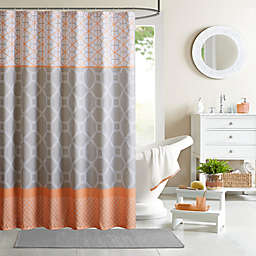 Intelligent Design Clara 72-Inch Shower Curtain in Orange