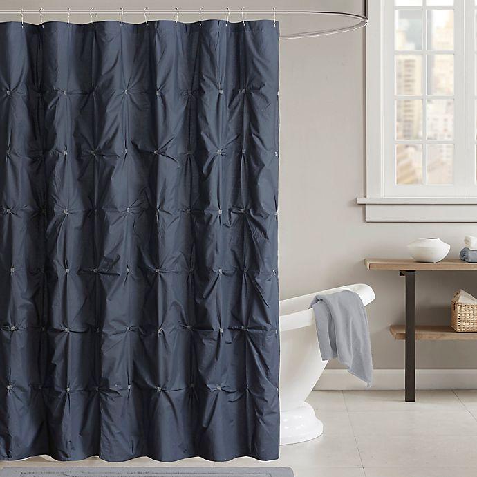 INK IVY Masie 72 Inch Shower Curtain In Navy