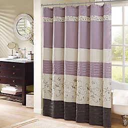 Madison Park Serene 72-Inch Shower Curtain in Purple