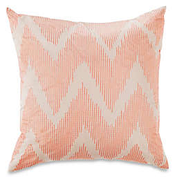Palmetta Embroidered Square Throw Pillow in Oatmeal