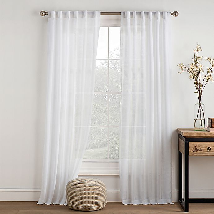 Alternate image 1 for Logan Sheer Rod Pocket Back-Tab Window Curtain Panel