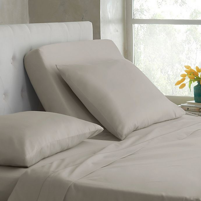 Alternate image 1 for Martex® Sateen Dual King Sheet Set in Silver