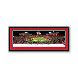Rutgers University Panorama Stadium Print with Deluxe Frame